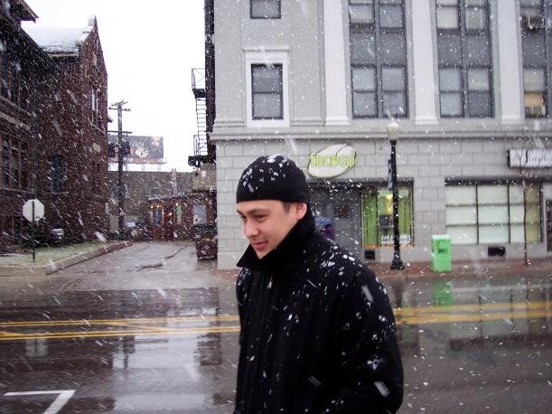 Trevor in the snow