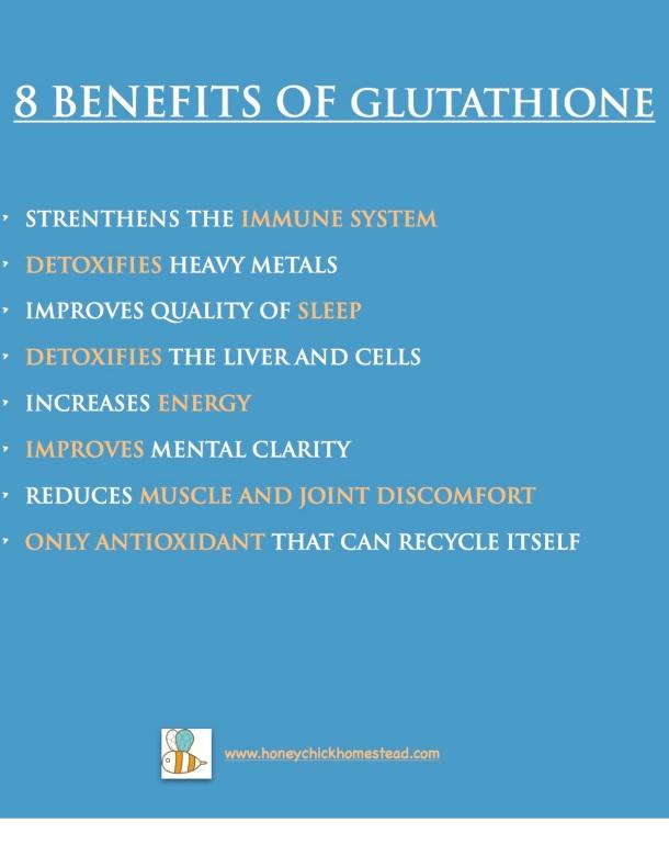 8 Benefits of glutathione